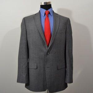 Calvin Klein 40L Sport Coat Blazer Suit Jacket Gra